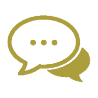 customer engagement icon (gold)