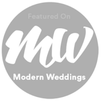 Modern Wedding badgeBW
