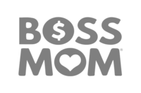 boss mom logo gray