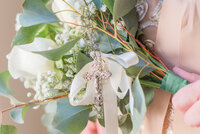 bridal bouquet with heirloom rosary