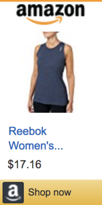 reebok womens training tank