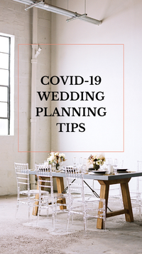COVID-19 Wedding Planning Tips