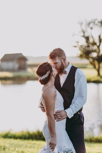 Pond & Bridge bride