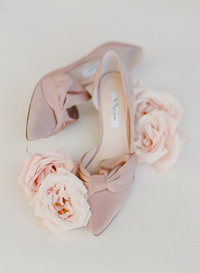 bride's wedding day shoes | Charleston, SC