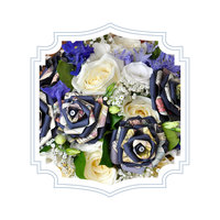 White and Blue Bouquet - Paper Bouquet - Hummingbird Occasions
