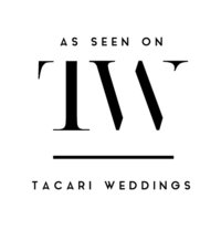 As Featured on Tacari Weddings Wedding Badge in Black and White