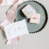 Gorgeous blush pink wedding detail  flaylay  with MRS Box