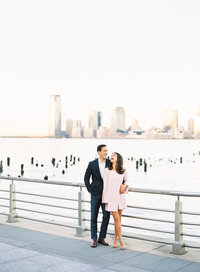 Engagement photos from the High Line and New York Public library in Manhattan, New York City