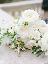 cream color garden rose bouquet