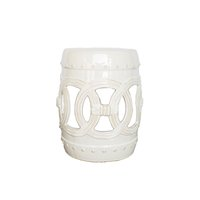 Ceramic Garden off-white garden stool.