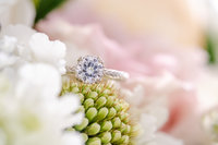 Close-up of ring taken by a Maine Wedding Photographer