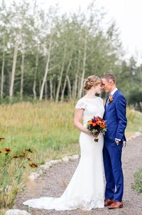 portrait shot of a bride and groom, colorado wedding photographer