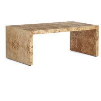 wisteria burl wood coffee table