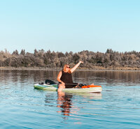 PNW Blogger paddle board Kayak