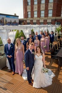 Bridal Party at the Lord Baltimore Hotel Wedding