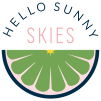 Hello Sunny Skies logo designed by MK Design Studio.
