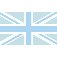 Azalea Design Co. UK Flag Graphic in Blue