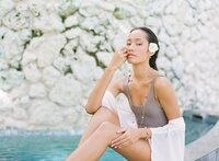 Tahitian Portrait model Tahiti beautiful woman in the spa