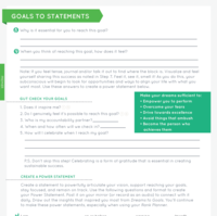 Goals to Statements