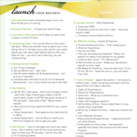 Launch Training Agenda
