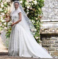 chapel length veil pippa middleton