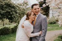 Super cute couple in Tacoma for their LDS wedding by Sarah Anne Photo