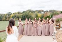 bride reveal to bridesmaids