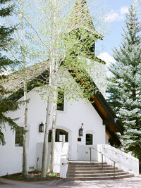 vail mountain chapel in the summer