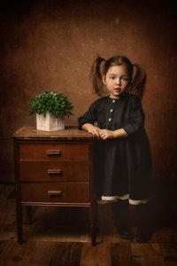 Child Portraits_Fine Art_Black Linen Dress