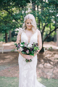 Bridal portraits for a bride in Birmingham, AL