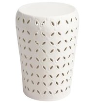 White Metal Pental Stool