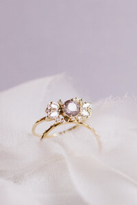 Unique Engagement Rings Purple Stone