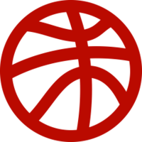 Red basketball icon