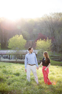 Rustic engagement photo in rural Virginia.  Image by top Virginia wedding photographer Jalapeno Photography.