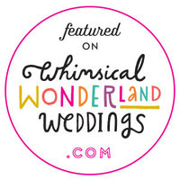 Link to a blog on whimsical wonderland weddings featuring him and her wedding photography