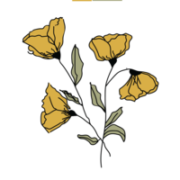 flower drawing icon