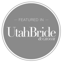 featured in utah bride and groom badge