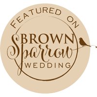 Brown-sparrow-wedding-Badge 2