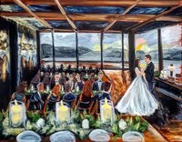 Wedding ceremony live wedding painting at the Riverwood Mansion in Nashville Tennessee