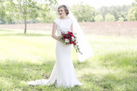First look of a bride at an  estate wedding in Lyons GA