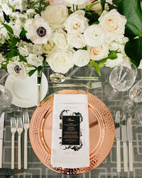 copper charger plate occasions