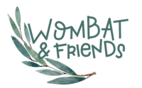 wombat & friends logo - australian animal baby toddler gifts