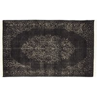 cb2 portrait black rug