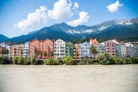 Colorful houses in Innsbruck