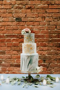 Marble Wedding Cake at Axis Pioneer Square