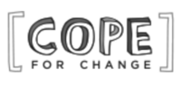 A grayscale logo for Cope for Change.