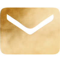 Gold Gradient Email Icon