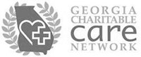 A grayscale logo for Georgia Charitable Care Network.