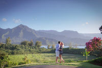 She said yes, surprise proposal at Hanalei Bay Resort Kauai.