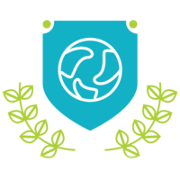 blue and green truth health academy crest logo
